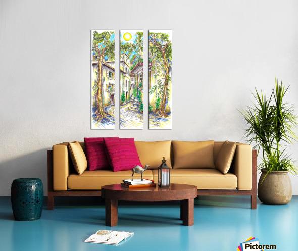 Siesta_Italiana Split Canvas print
