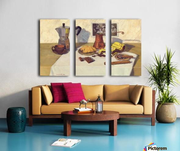 Still_Life_With_Coffee_50x80 Split Canvas print