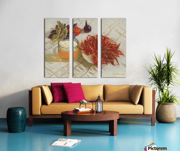 Still_Life_With_Crawfish Split Canvas print