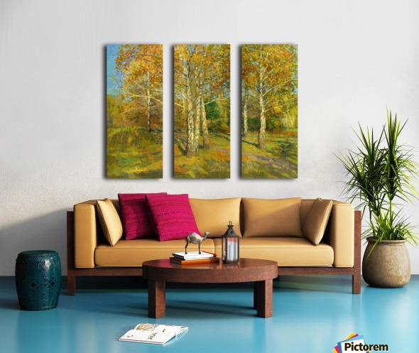 Birch_Trees_In_Tsaritsyno Split Canvas print