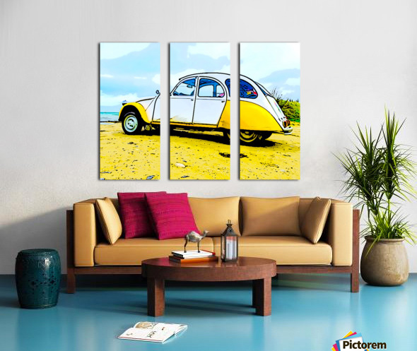 Beach Car Split Canvas print