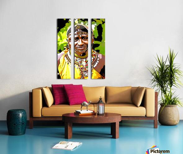 African Split Canvas print