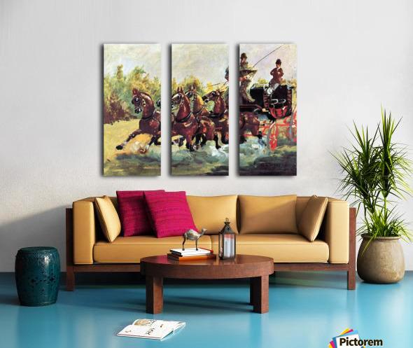 Count Alphonse de Toulouse-Lautrec Split Canvas print