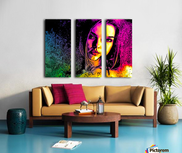 MultiColor Girl Split Canvas print