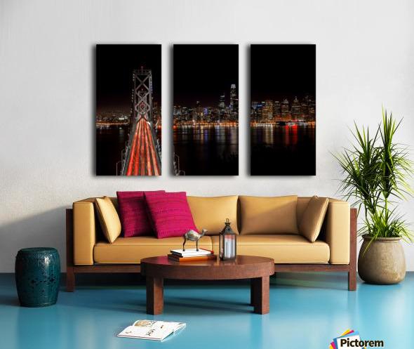 Spin City Split Canvas print