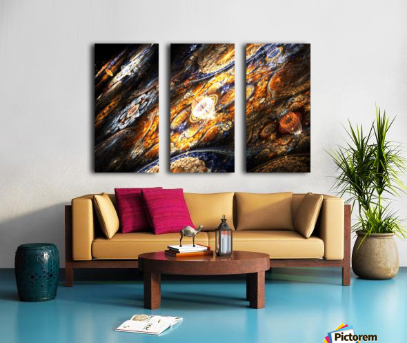 Land of pleasures Split Canvas print