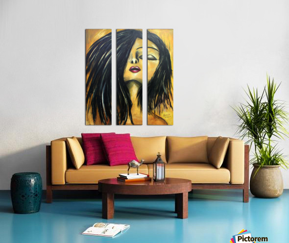 L Extase Split Canvas print