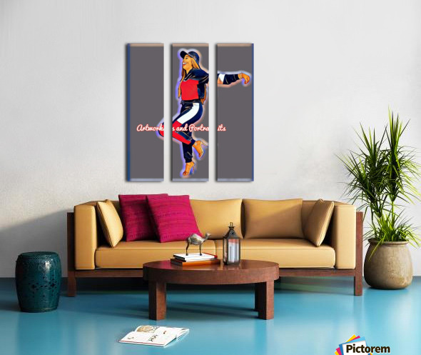 Artistic Split Canvas print
