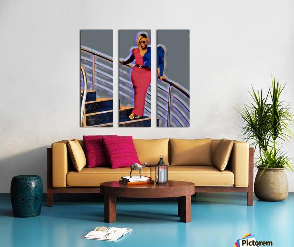 Balustrade Split Canvas print