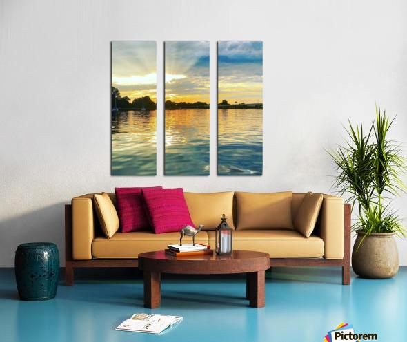 Washington Channel Sunset Split Canvas print