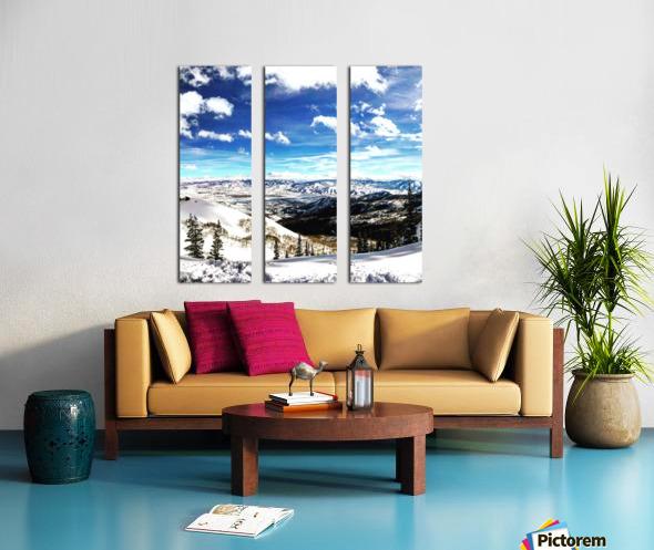 Brighton Resort Back Country Split Canvas print