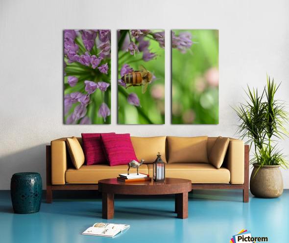 Bees & Flowers Photography Split Canvas print