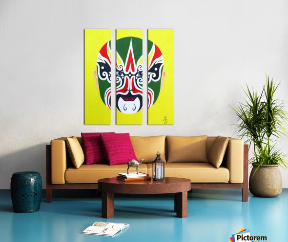 Cheng Yaojin - Chinese Opera Mask Split Canvas print
