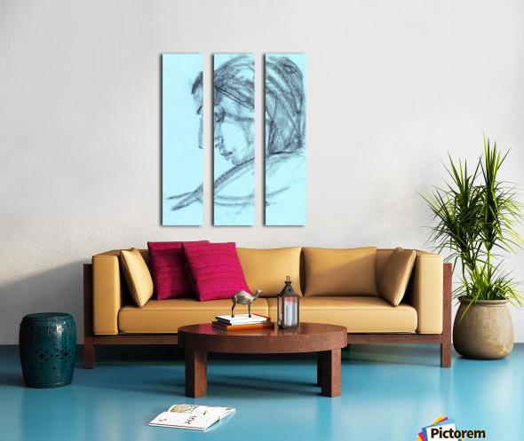 Lite blue Split Canvas print