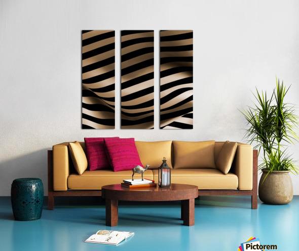 CURVY3 Split Canvas print