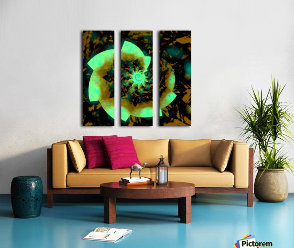 Digital_Vegetation Split Canvas print
