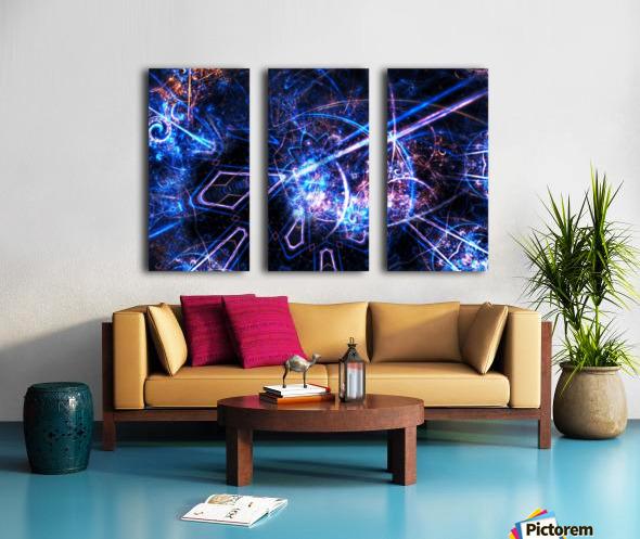 Time traveller Split Canvas print