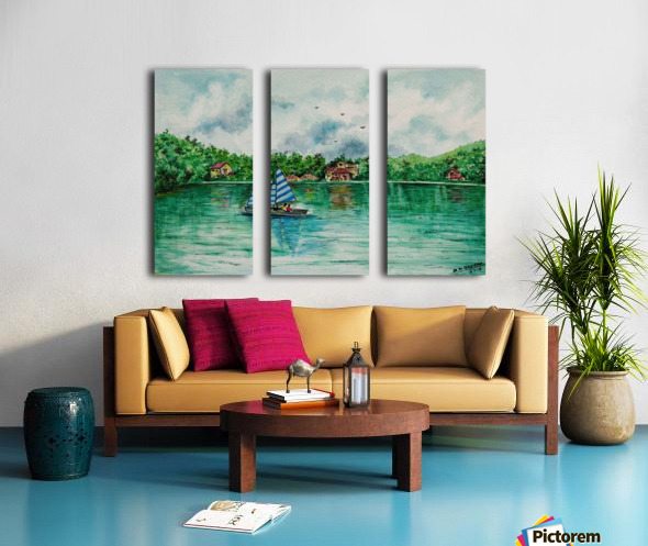 Naini lake_DKS Split Canvas print