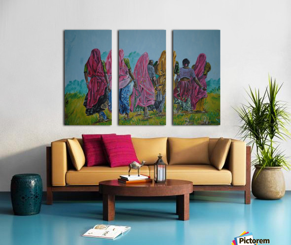 Village Women_DKS Split Canvas print
