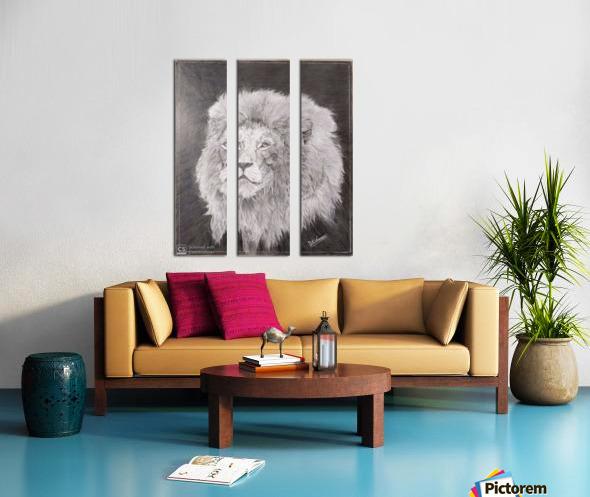 Lion_DKS Split Canvas print