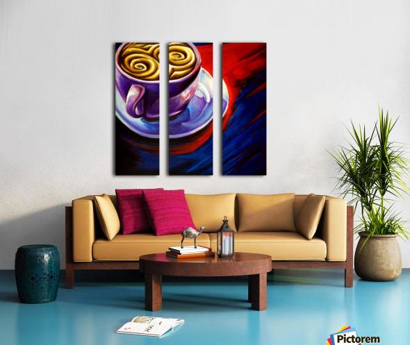 Coffee Split Canvas print