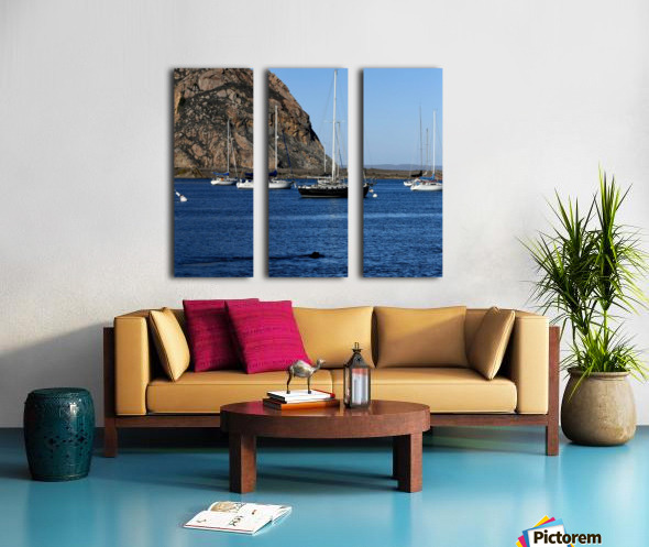 Morro Rock Split Canvas print
