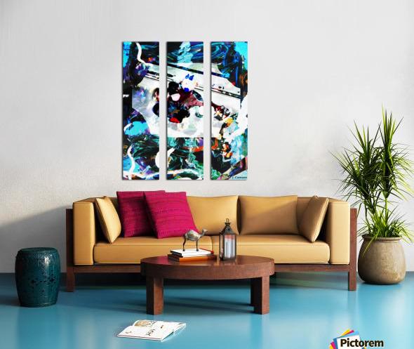 Strumming Patterns Split Canvas print