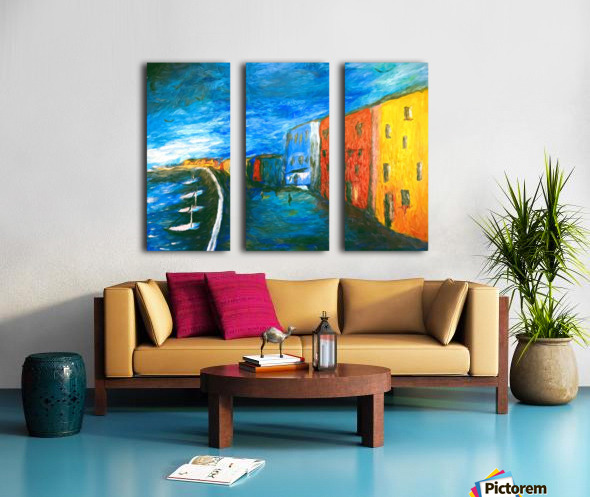 The Boardwalk v1 Split Canvas print