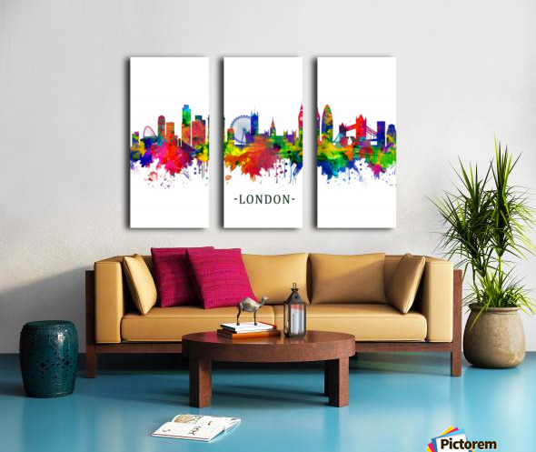 London England Skyline Split Canvas print