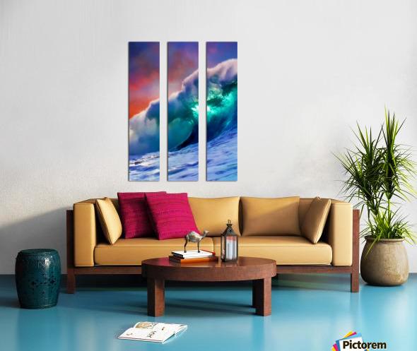 Sunset Wave Split Canvas print