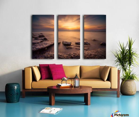 Point Petre Sunset Split Canvas print