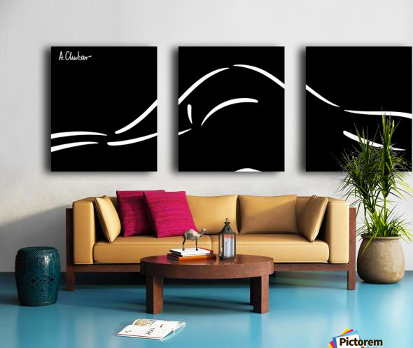 Nude 33 Split Canvas print