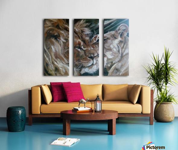 Leos. Tenderness. Split Canvas print