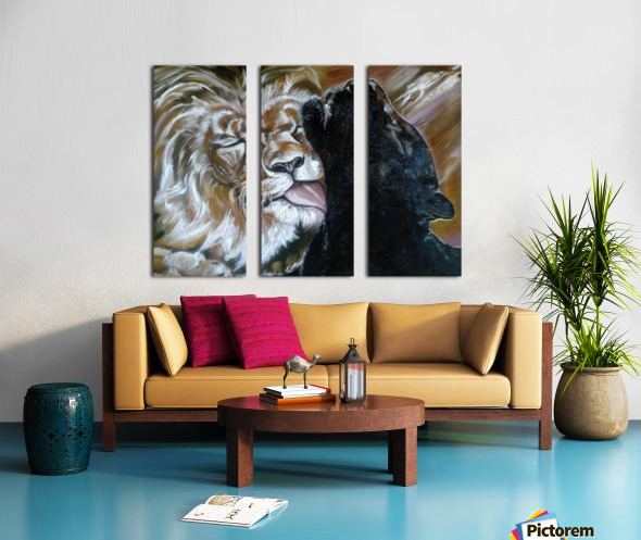 The Lion and the Panther Split Canvas print