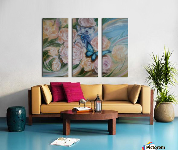 Flowers. Miracle. Split Canvas print