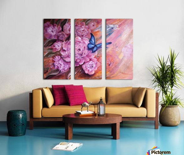 Flowers. Beauty. Split Canvas print