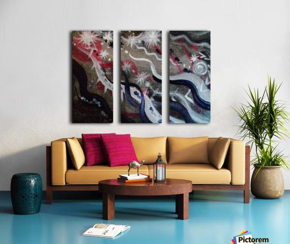 Shungite.Epiphany4. Split Canvas print