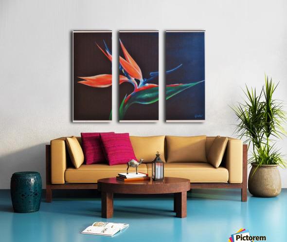 Bird of Paradise 2 Split Canvas print