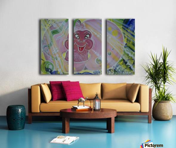 Happiness Split Canvas print