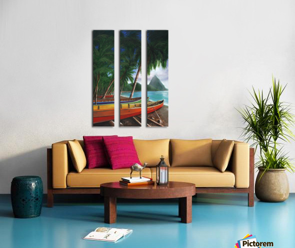 St. Lucia Split Canvas print
