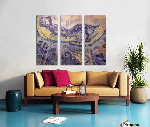 Relaxation Split Canvas print