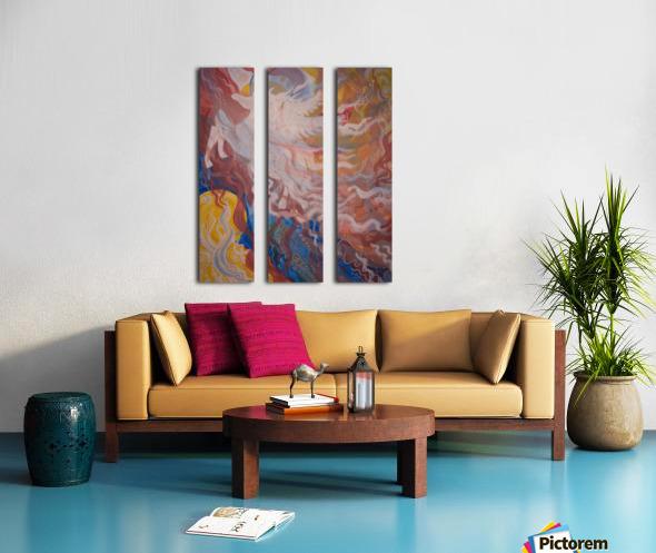 Strength Split Canvas print