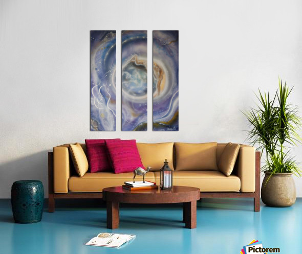 Night Split Canvas print
