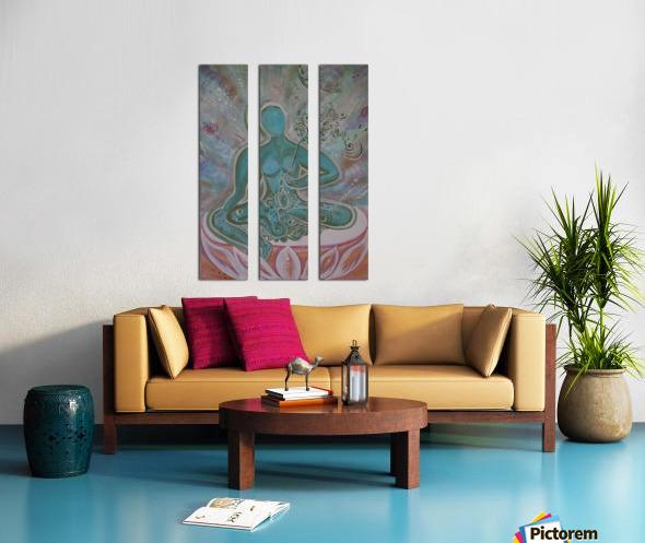 Green Buddha Tara Split Canvas print