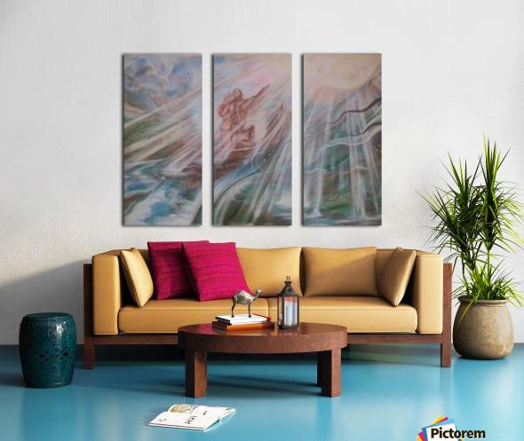 A happyness to way Split Canvas print