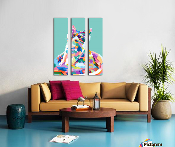cats Split Canvas print