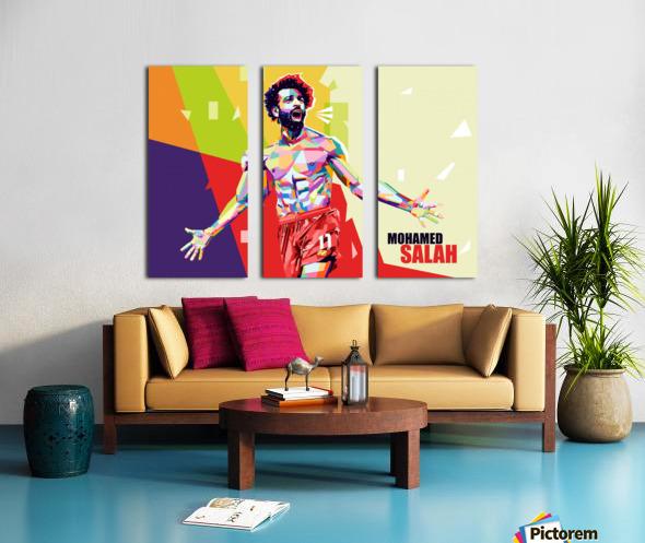 Mohamed salah Split Canvas print