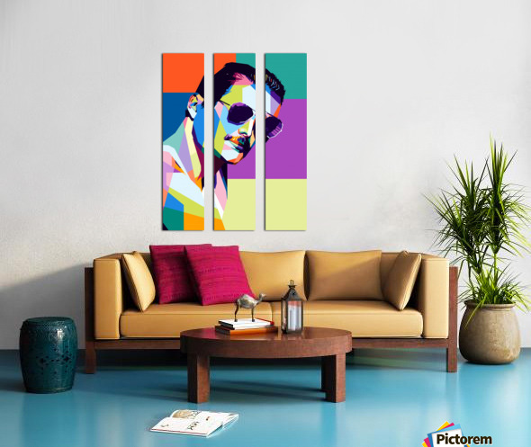 freddie mercury Split Canvas print