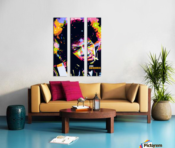 jimi hendrix Split Canvas print