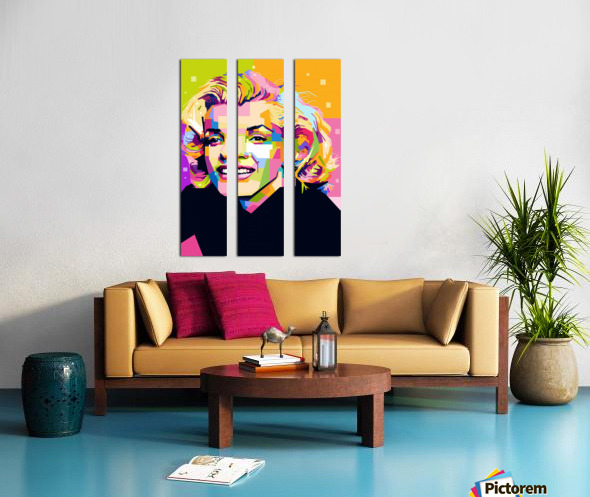 Marilyn Monroe Split Canvas print